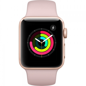 APPLE Watch Series 3 Space Gold Aluminum Case with Pink Sport Band 42mm
