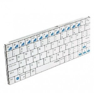 RAPOO E6100 Wireless Bluetooth Ultra Slim Keyboard for Android / iPad - White