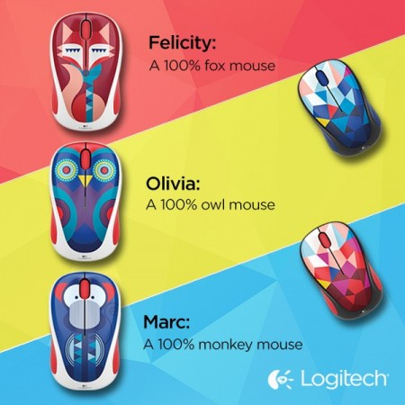 LOGITECH M238 Wireless Mouse - Popsicles