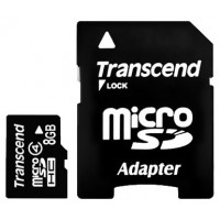 TRANSCEND Micro SDHC Class 4 -  8GB [With Adapter]