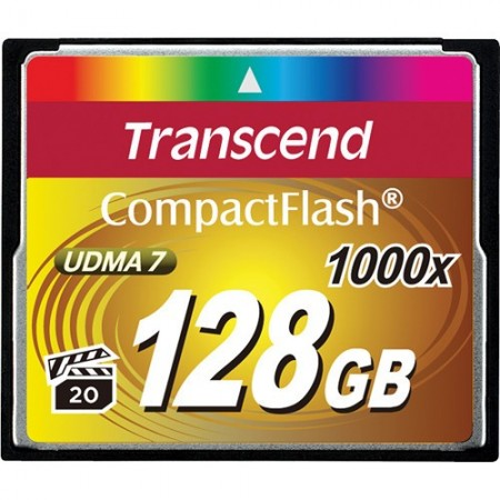 TRANSCEND Compact Flash 1000x - 128GB