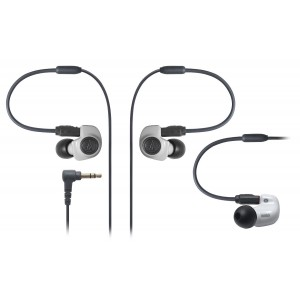 AUDIO TECHNICA ATH-IM50 White, Dual Symphonic Driver In-Ear Monitor Headphones