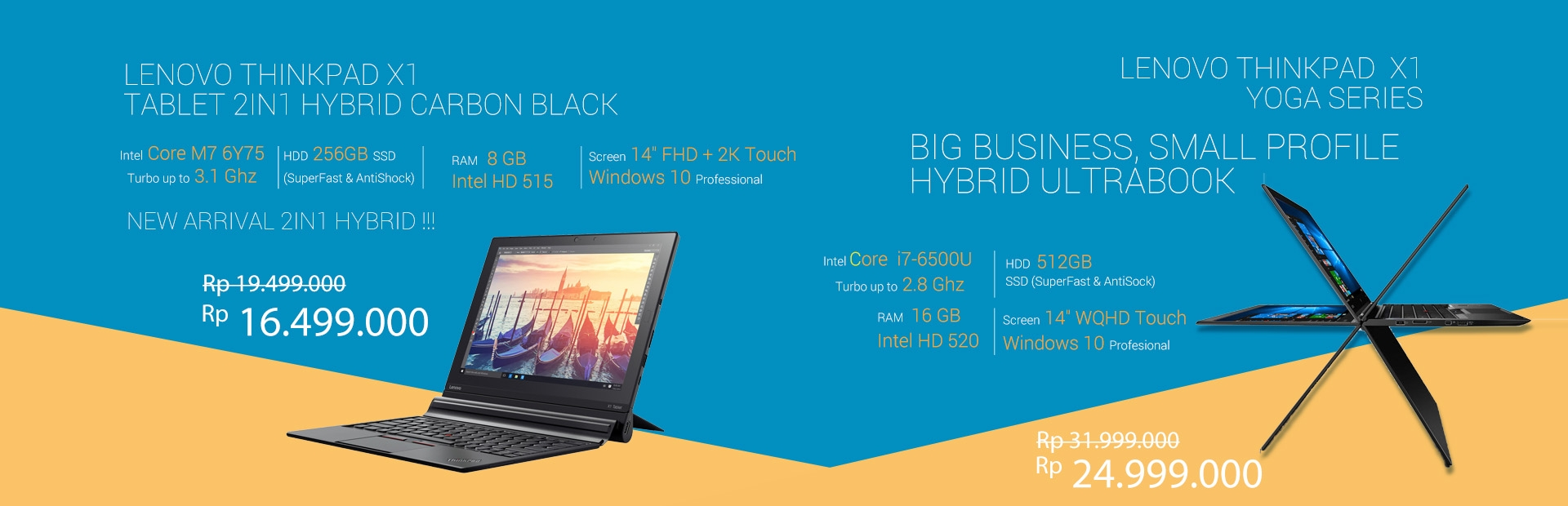 LENOVO ThinkPad X1 Tablet 2in1 Hybrid Carbon Black-LENOVO ThinkPad  X1-Yoga Series