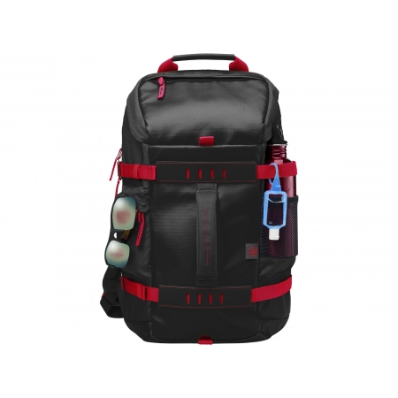 HP 15.6 Odyssey Backpack - Black/Red