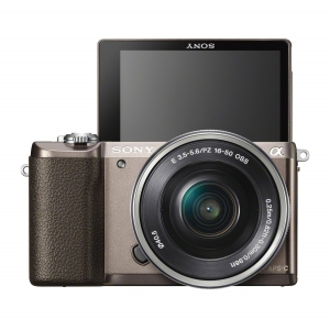 SONY Mirrorless Digital Camera Alpha A5100 Kit 16-50mm - Brown