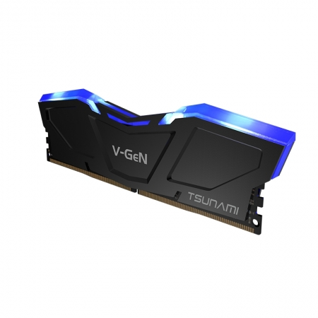 V-GeN TSUNAMI DDR4 32 GB PC-2666 CL 16-18-18-35 1.2V (16GB x 2) BLUE LED