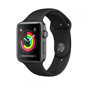 Apple Watch Series 3 Space Grey Aluminium Case with Black Sport Band 38mm