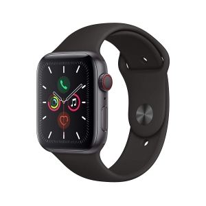 Apple Watch Series 5 GPS Space Grey Aluminium Case with Black Sport Band 44mm