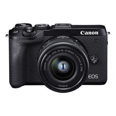 CANON EOS M6 Mark II KIT 15-45MM IS STM - Black