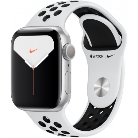 Apple Watch Nike Series 5 GPS Silver Aluminium Case with Pure Platinum/Black Nike Sport Band 40mm