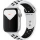 Apple Watch Nike Series 5 GPS Silver Aluminium Case with Pure Platinum/Black Nike Sport Band - S/M & M/L 44mm