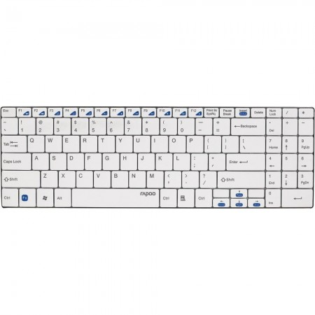 Rapoo 2.4G Wireless Ultra Slim Keyboard (Blade Series) - Black, White