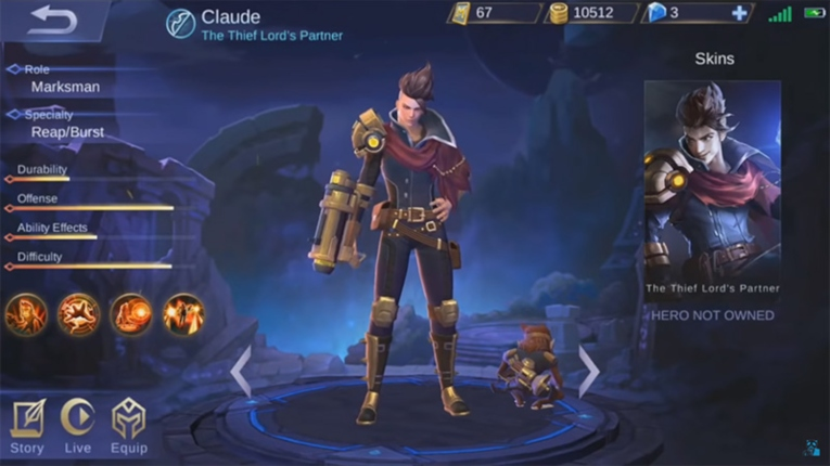 Claude mobile legends