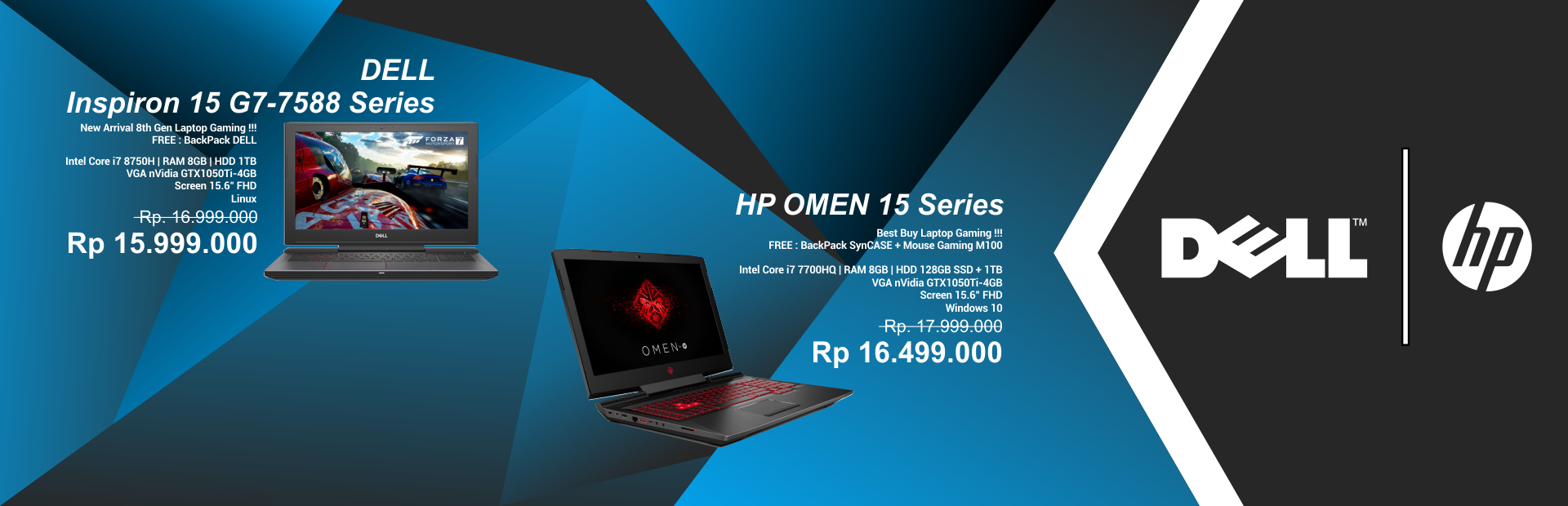 DELL Inspiron 15 G7-7588 Series / HP OMEN 15 Series